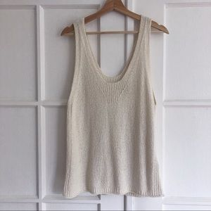Madewell knit sweater tank